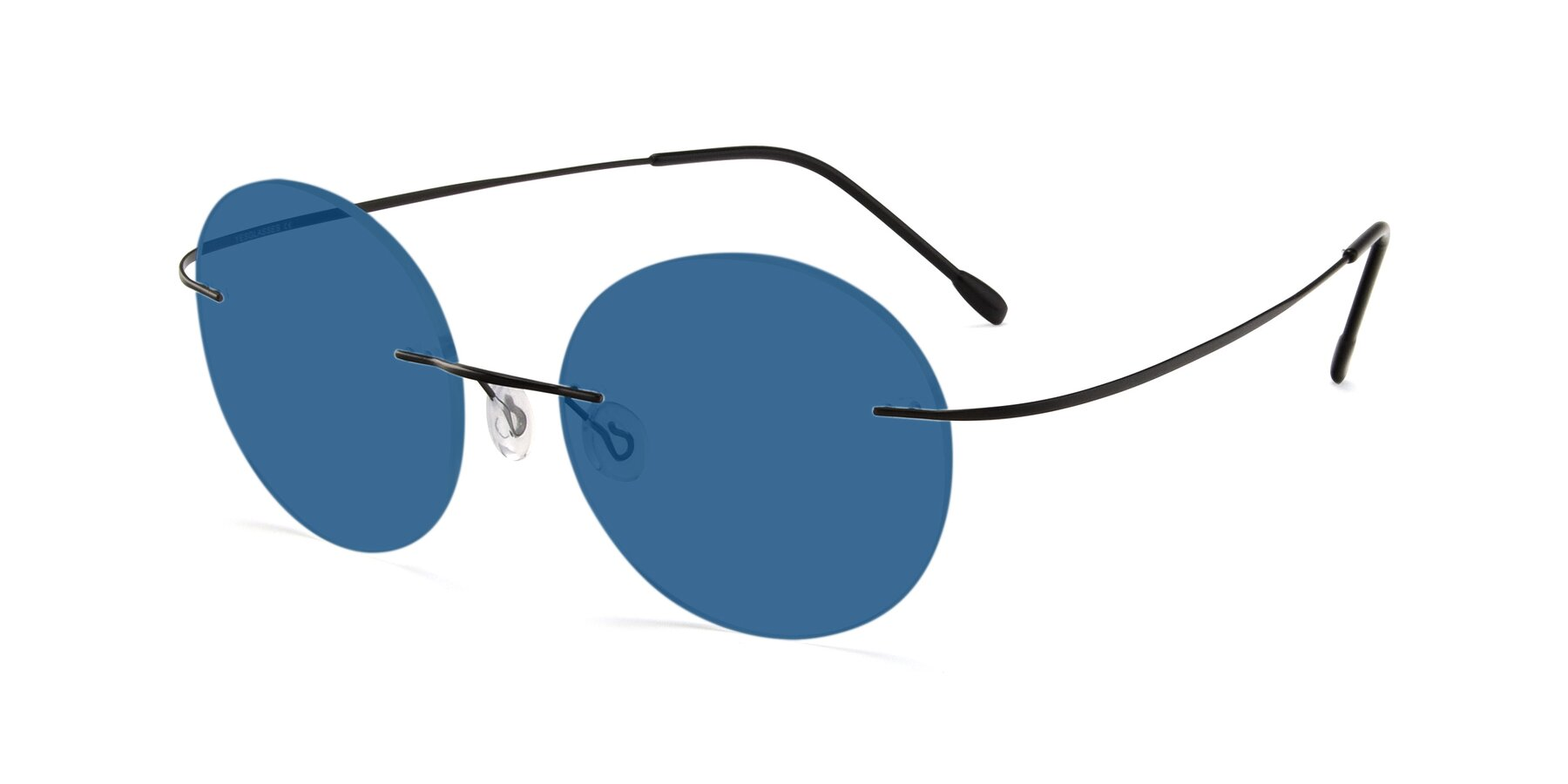 Angle of Leon in Black with Blue Tinted Lenses
