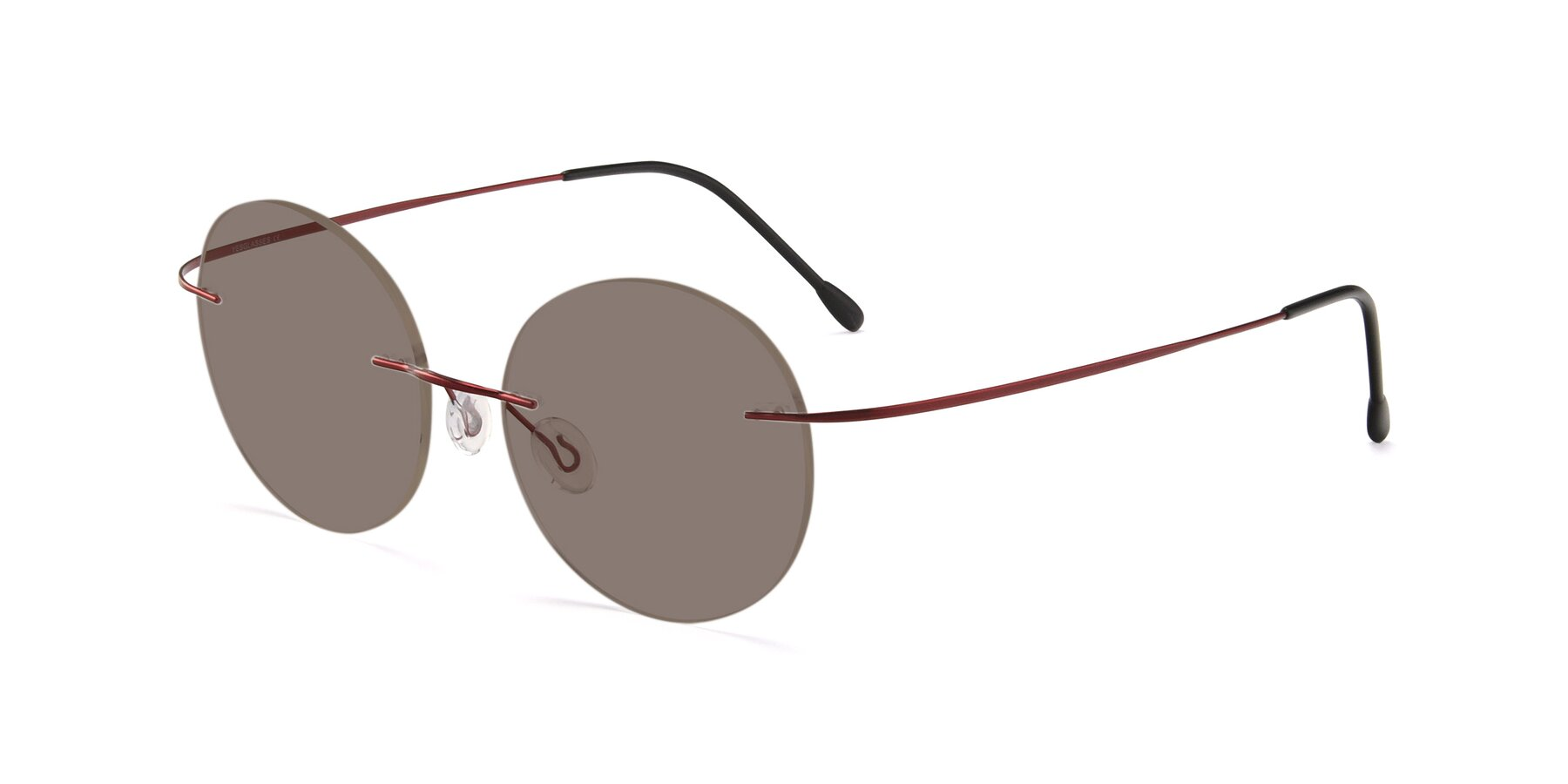 Angle of Leon in Wine with Medium Brown Tinted Lenses