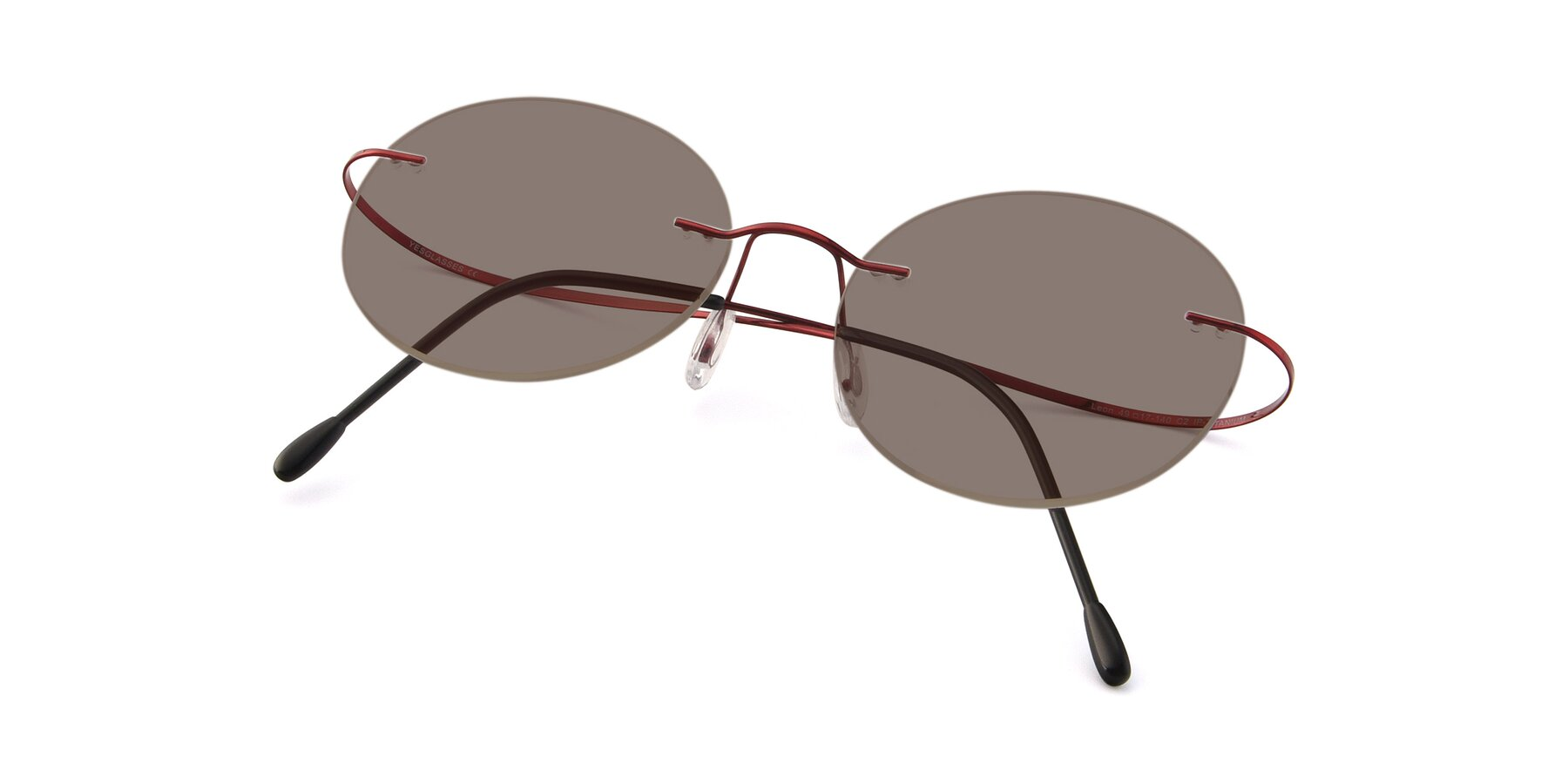 View of Leon in Wine with Medium Brown Tinted Lenses
