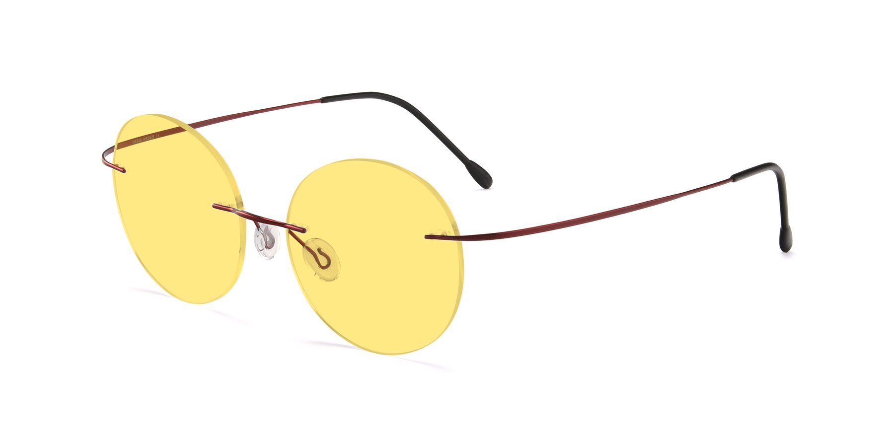 Angle of Leon in Wine with Medium Yellow Tinted Lenses