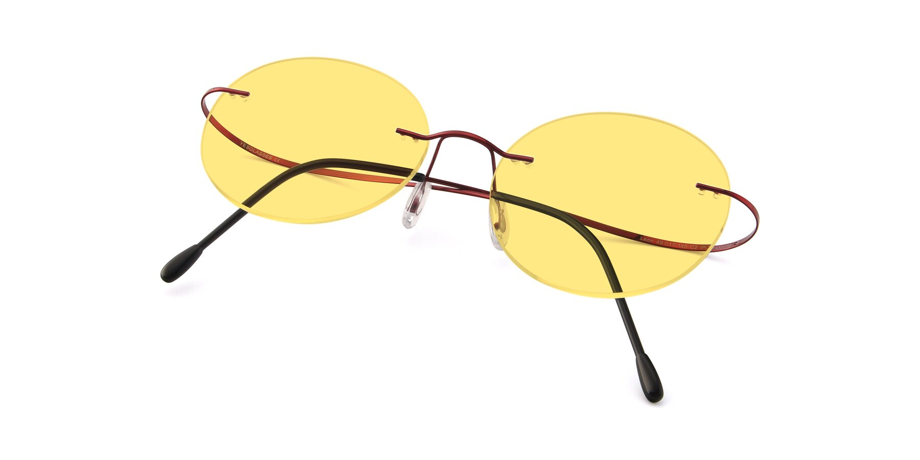 View of Leon in Wine with Medium Yellow Tinted Lenses