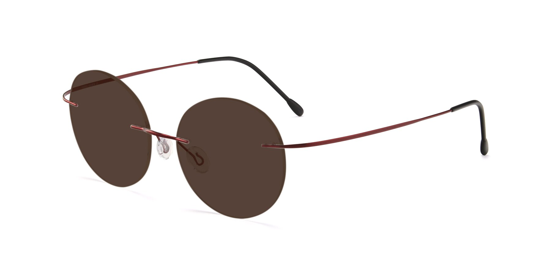 Angle of Leon in Wine with Brown Tinted Lenses