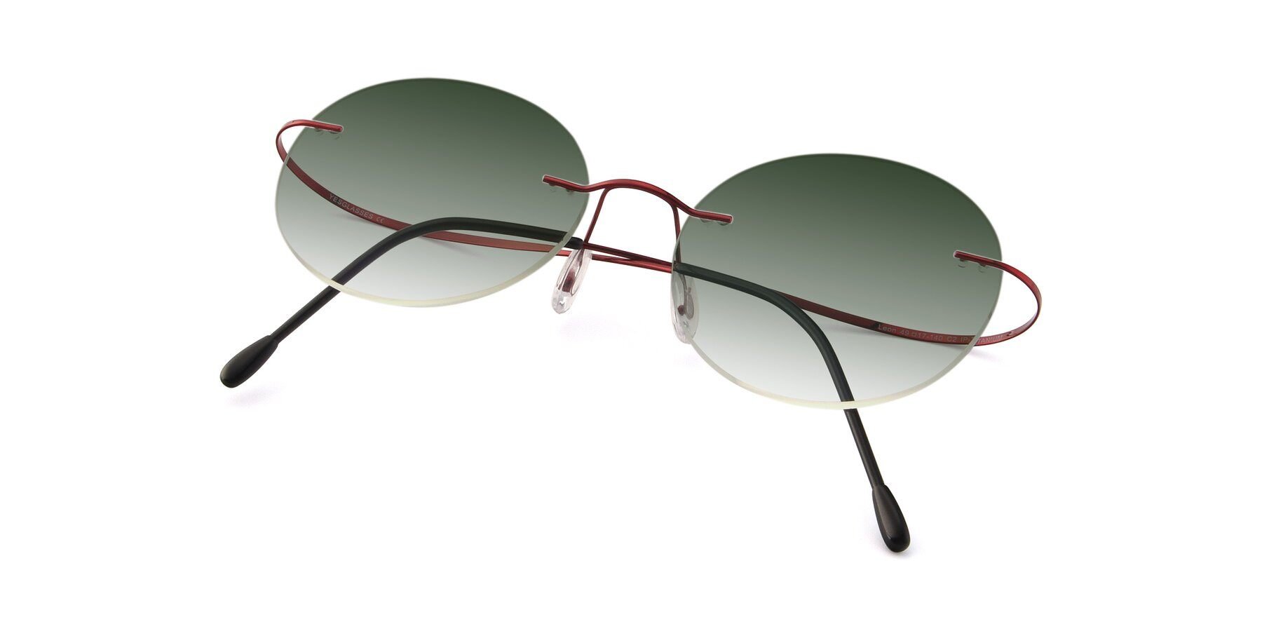 View of Leon in Wine with Green Gradient Lenses