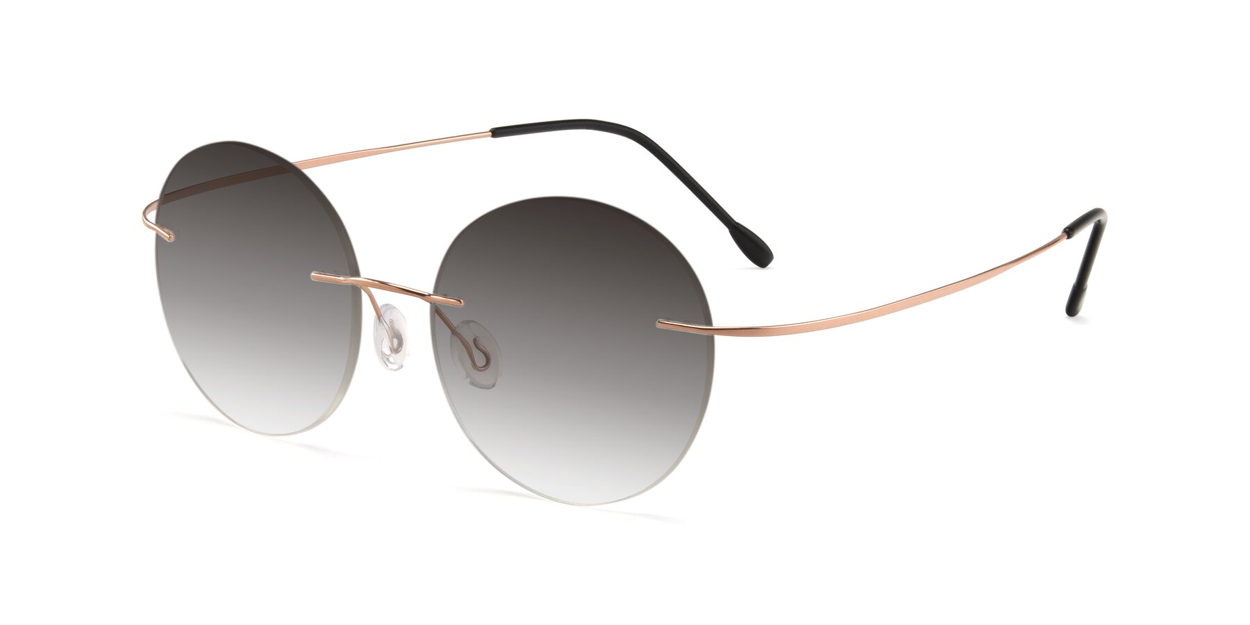 Angle of Leon in Rose Gold with Gray Gradient Lenses
