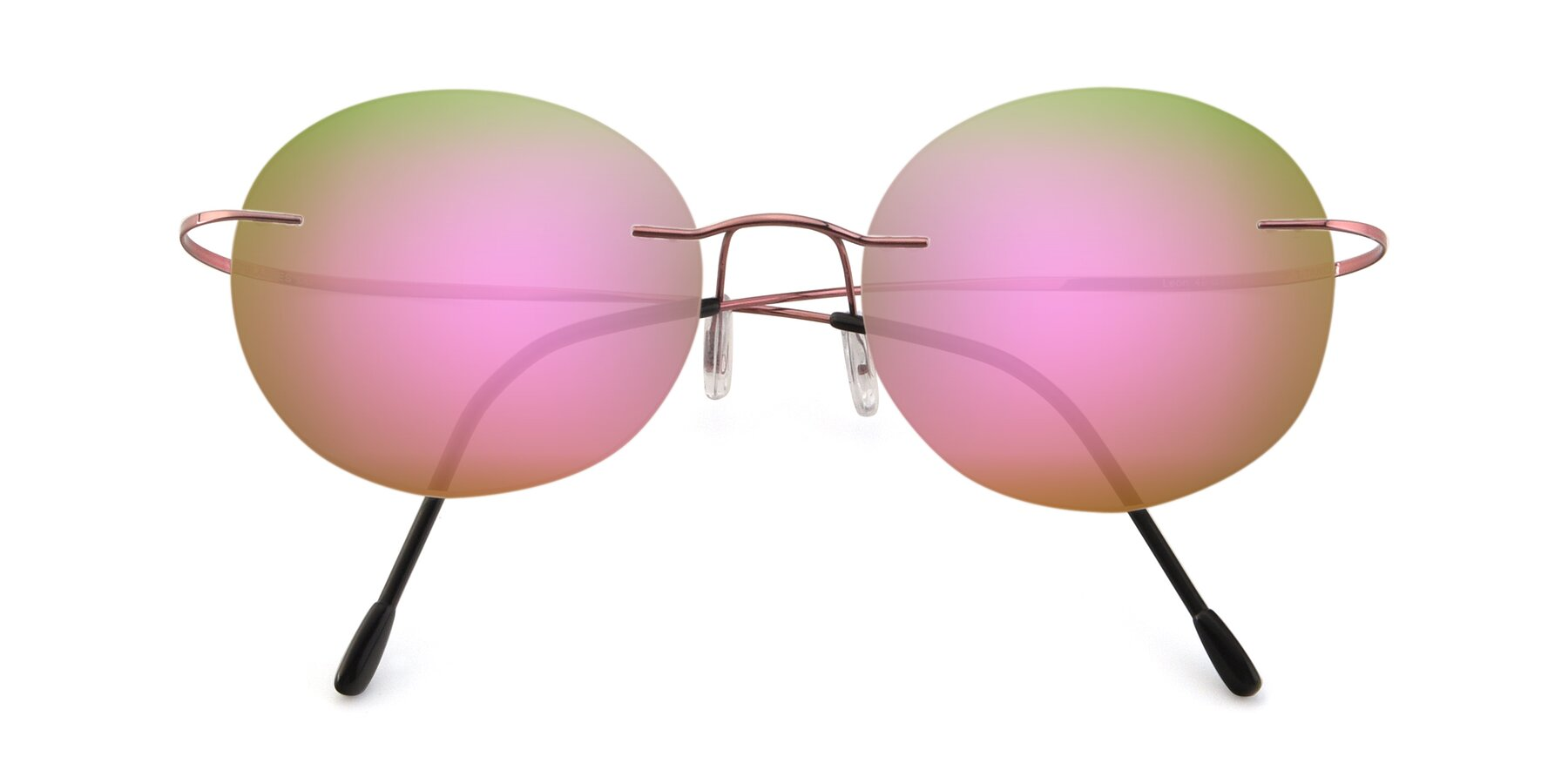 Folded Front of Leon in Light Pink with Pink Mirrored Lenses