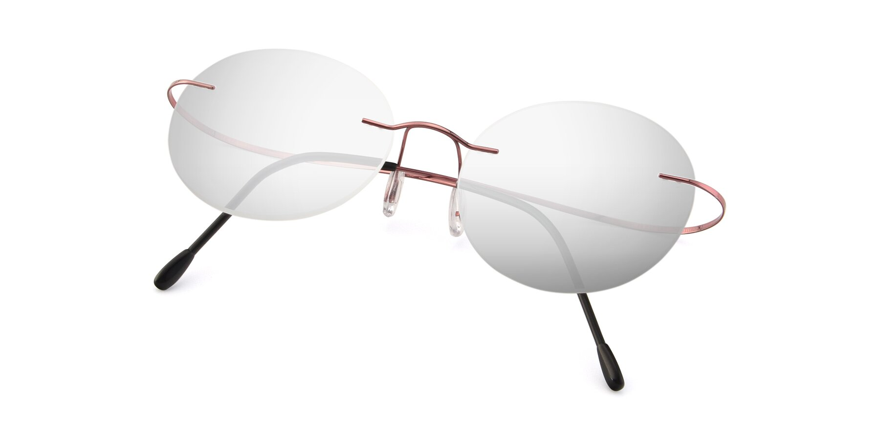 View of Leon in Light Pink with Silver Mirrored Lenses