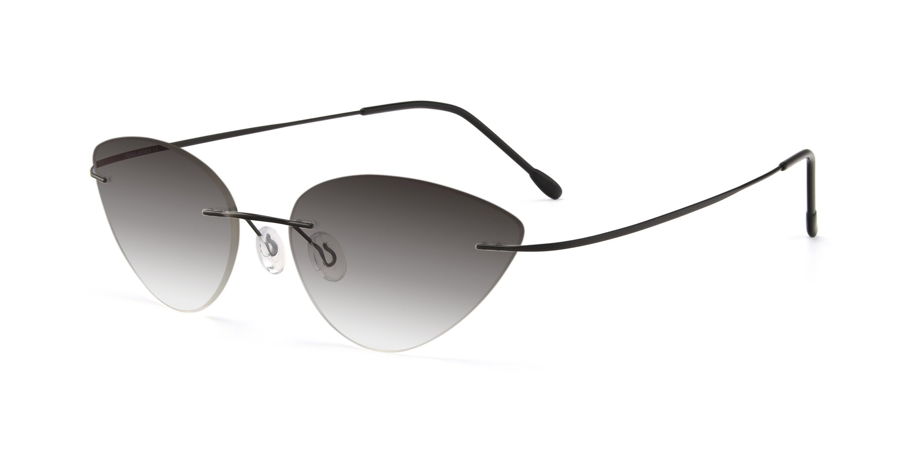 Angle of Pat in Black with Gray Gradient Lenses