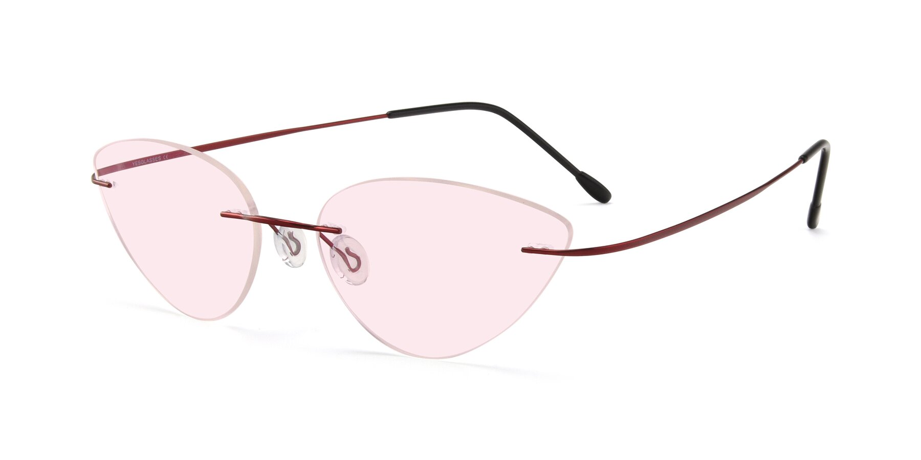Angle of Pat in Wine with Light Pink Tinted Lenses