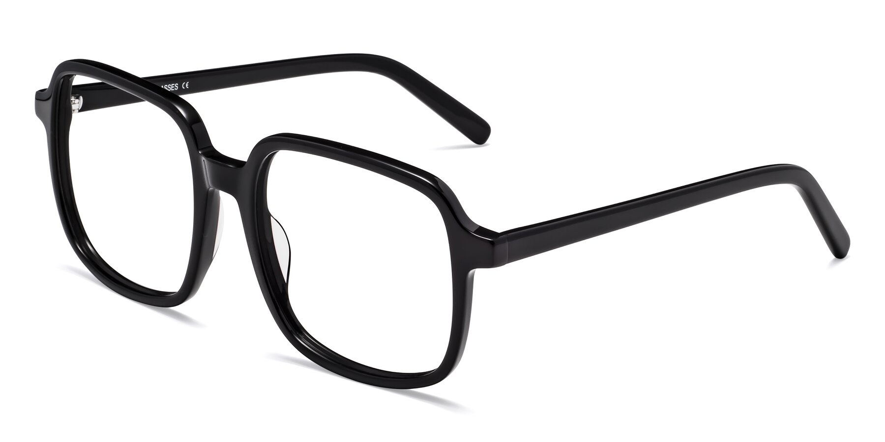 Angle of Water in Black with Clear Eyeglass Lenses