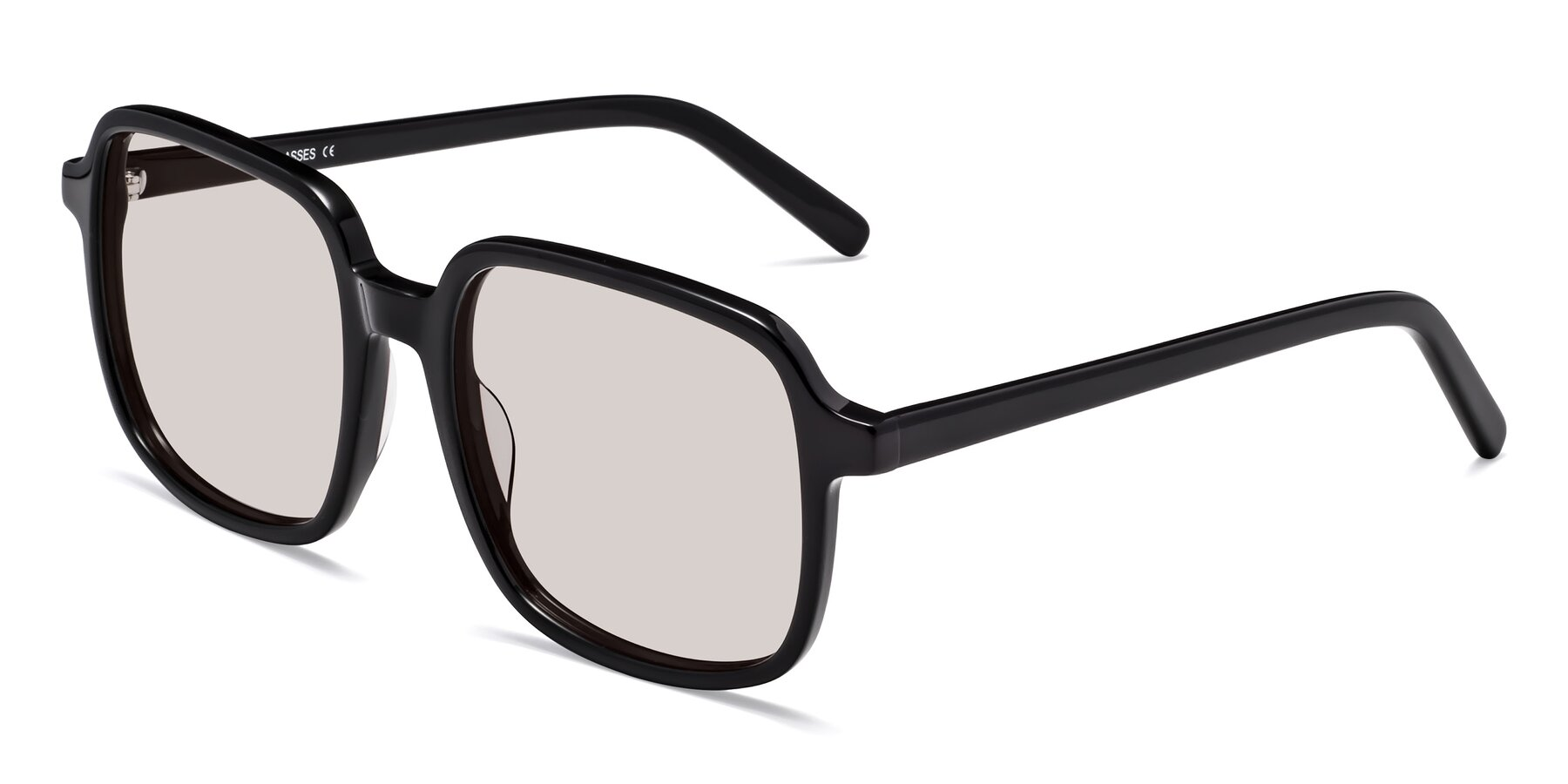 Angle of Water in Black with Light Brown Tinted Lenses