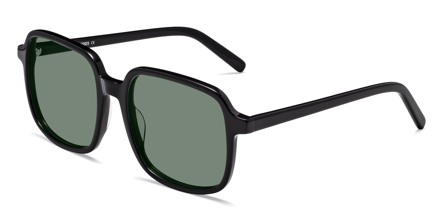 Angle of Water in Black with Medium Green Tinted Lenses
