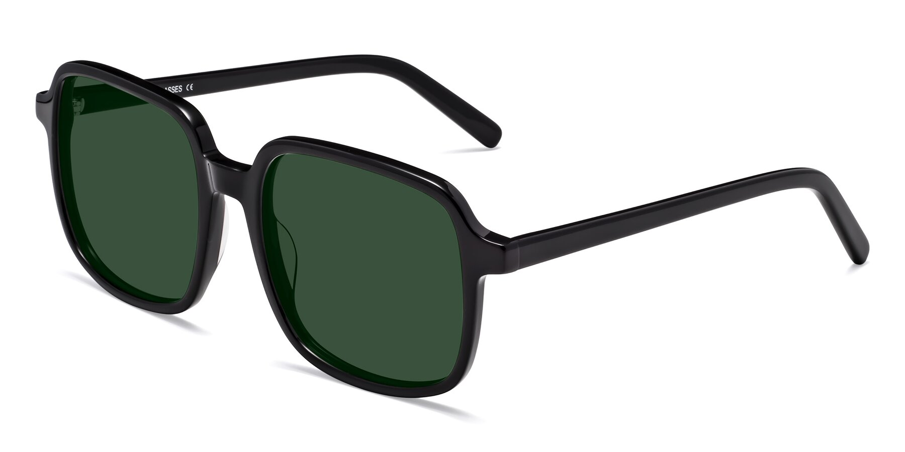 Angle of Water in Black with Green Tinted Lenses
