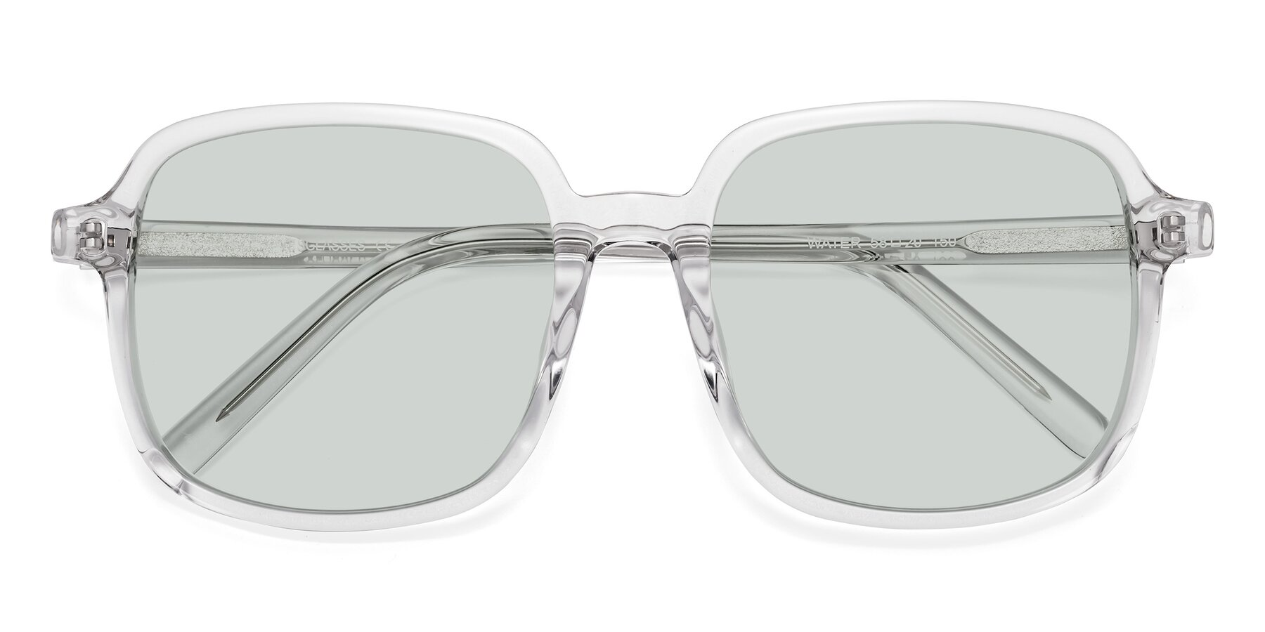 Folded Front of Water in Clear with Light Green Tinted Lenses