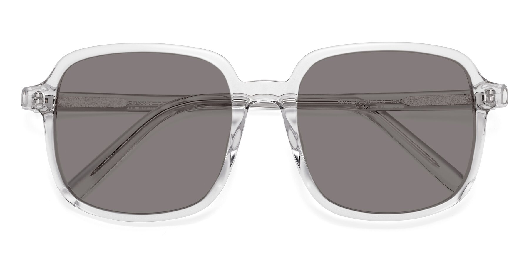 Folded Front of Water in Clear with Medium Gray Tinted Lenses