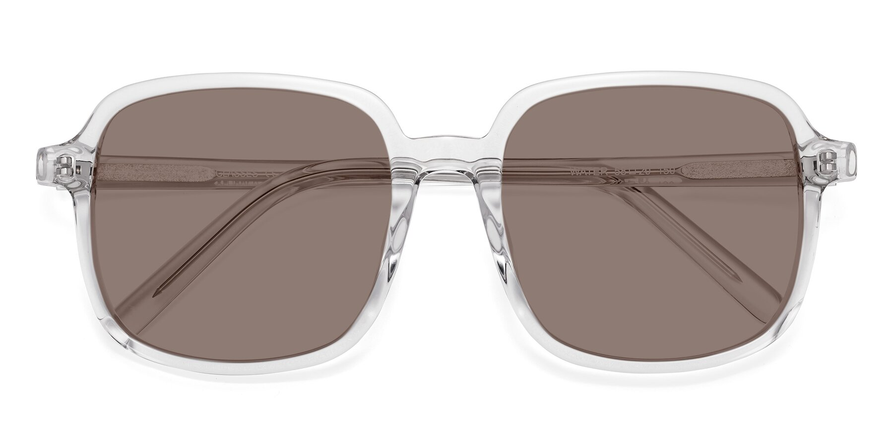 Folded Front of Water in Clear with Medium Brown Tinted Lenses
