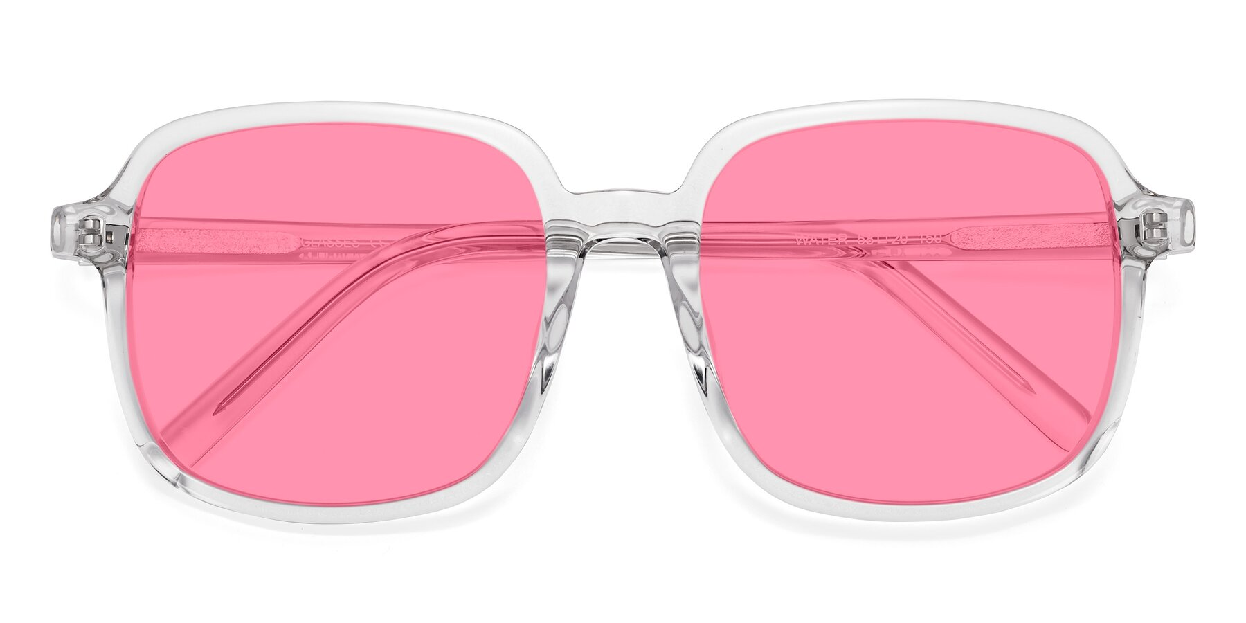 Folded Front of Water in Clear with Pink Tinted Lenses