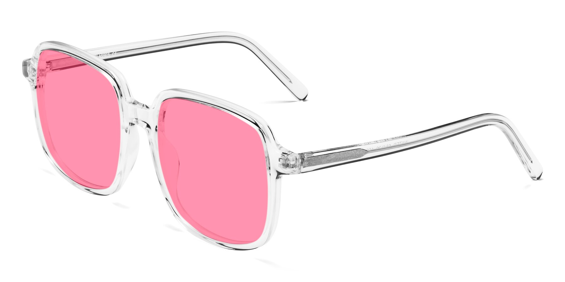 Angle of Water in Clear with Pink Tinted Lenses