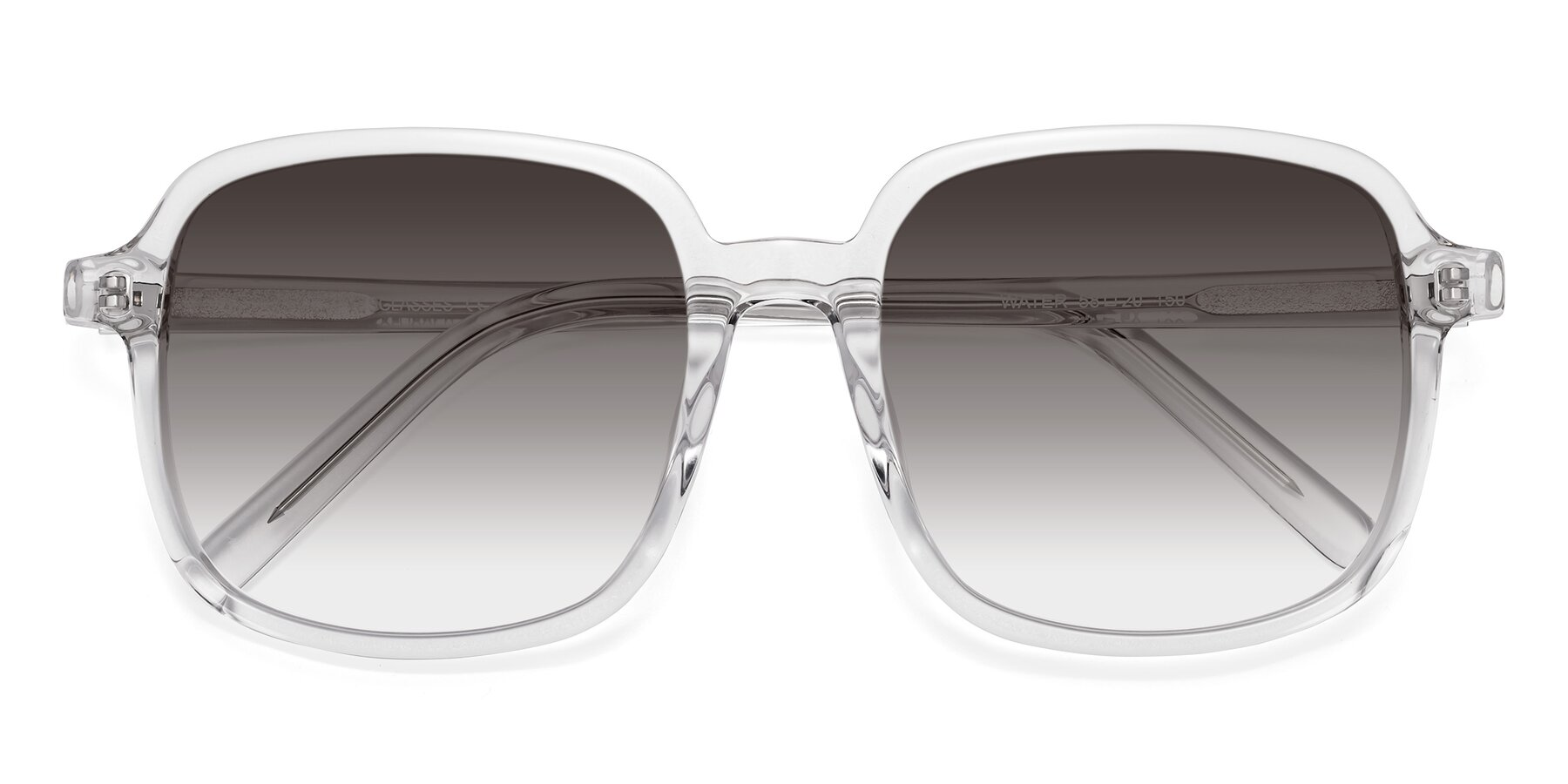 Folded Front of Water in Clear with Gray Gradient Lenses