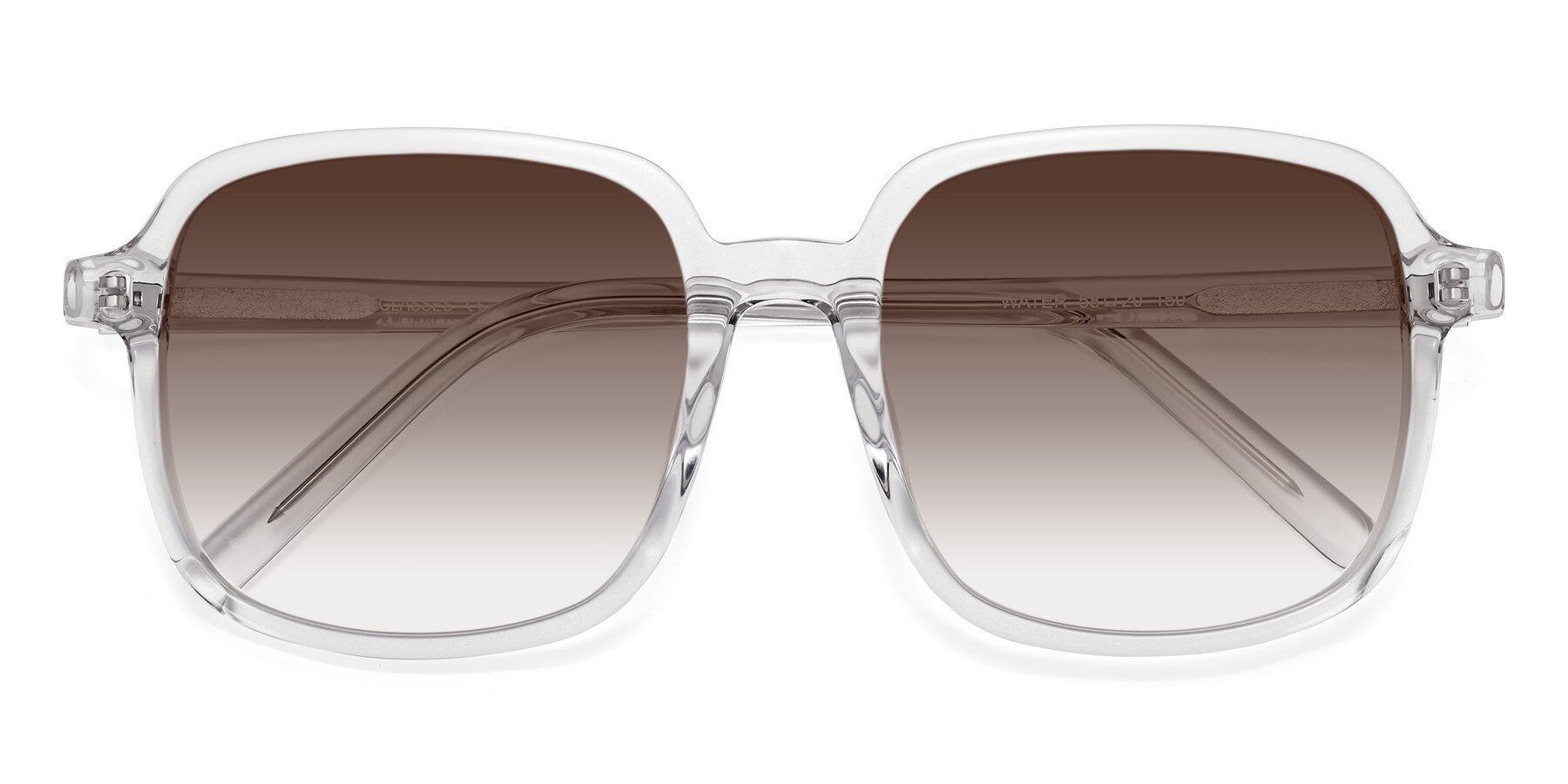 Folded Front of Water in Clear with Brown Gradient Lenses