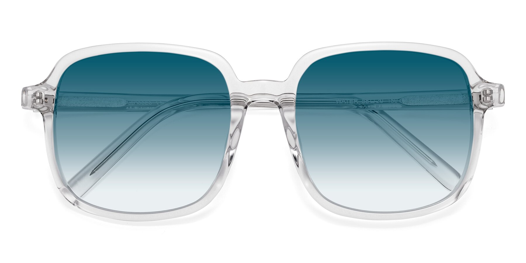 Folded Front of Water in Clear with Blue Gradient Lenses