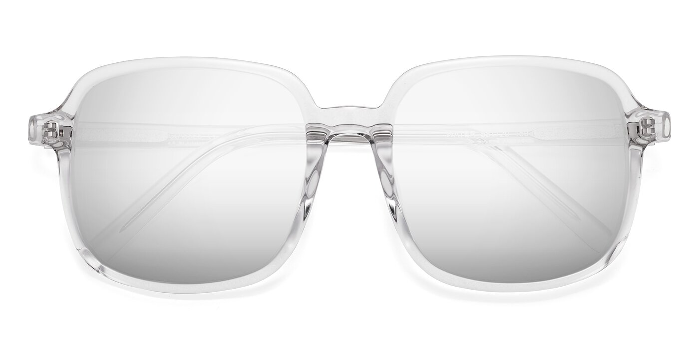 Water - Clear Flash Mirrored Sunglasses
