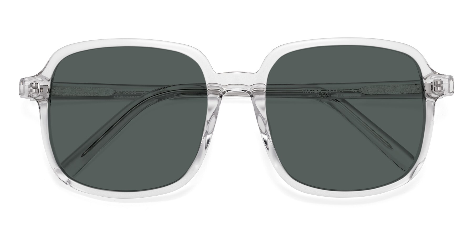 Folded Front of Water in Clear with Gray Polarized Lenses