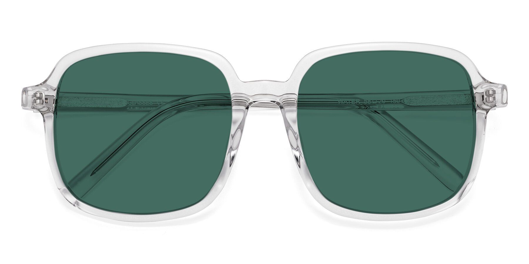 Folded Front of Water in Clear with Green Polarized Lenses