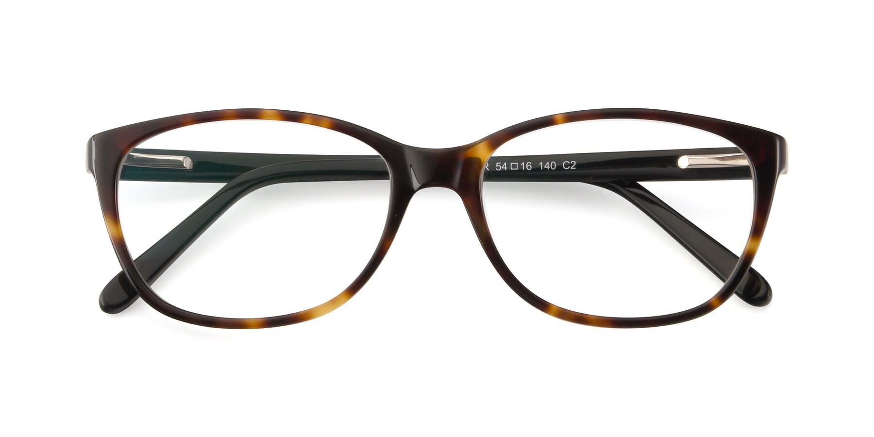 Folded Front of Xavier in Tortoise with Clear Blue Light Blocking Lenses