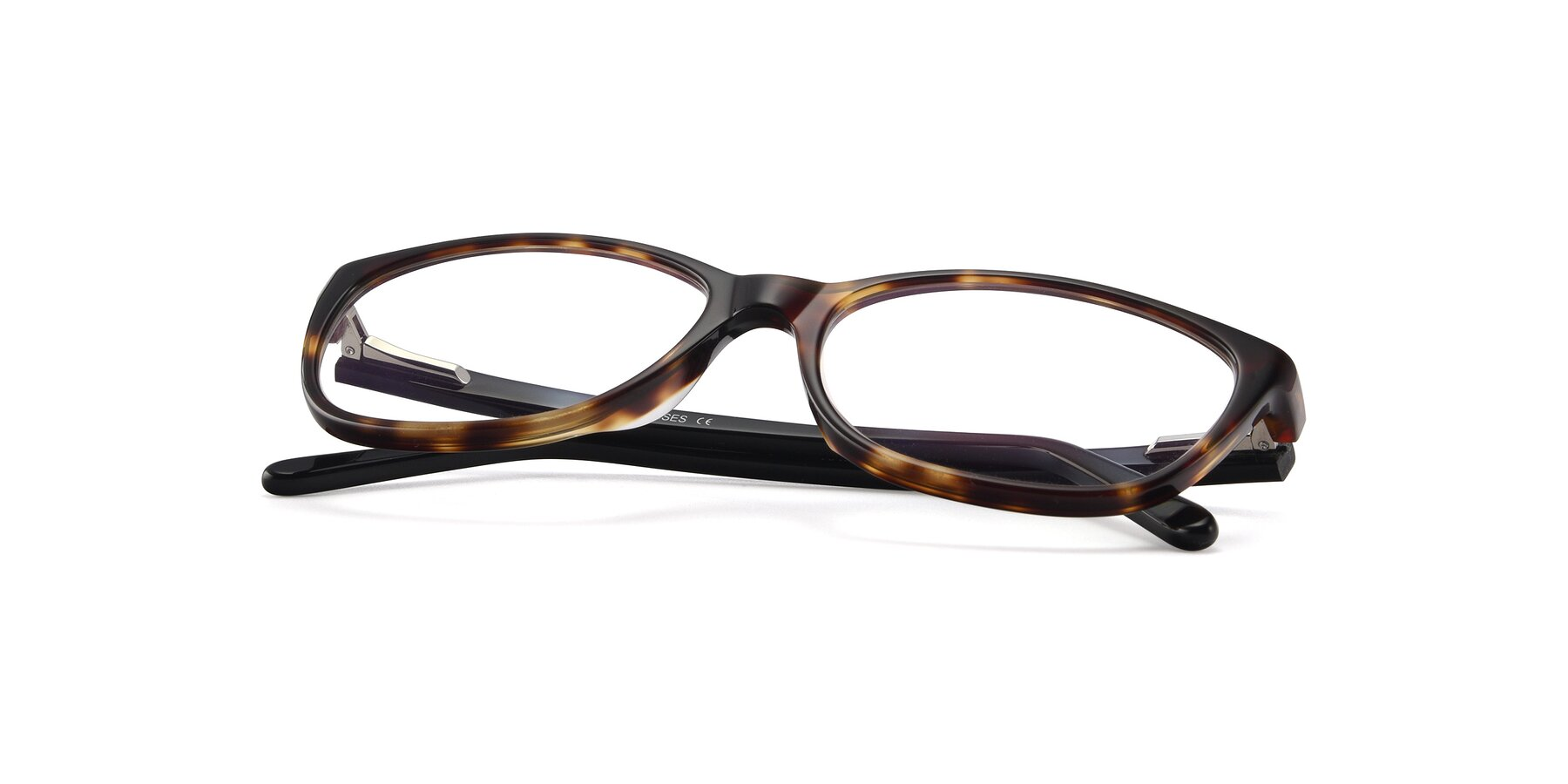 View of Xavier in Tortoise with Clear Blue Light Blocking Lenses