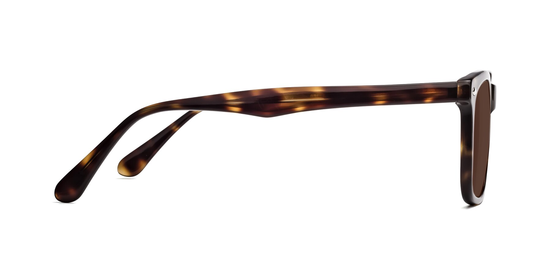 Side of 007 in Yellow Tortoise with Brown Tinted Lenses