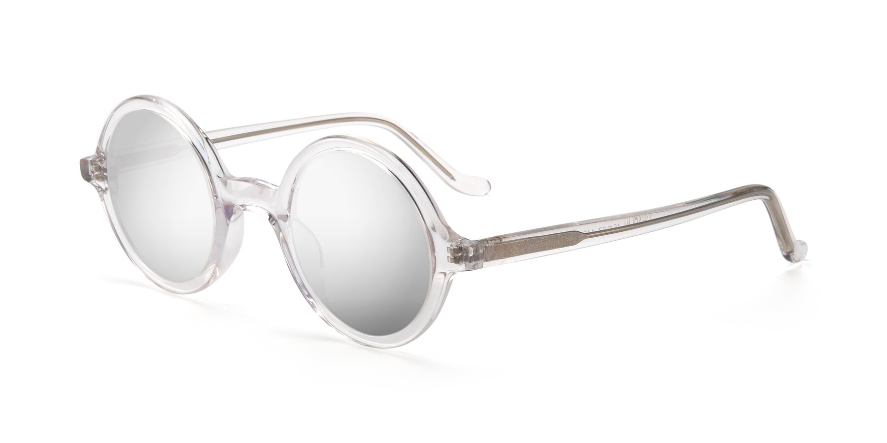 Angle of Chaplin in Clear with Silver Mirrored Lenses