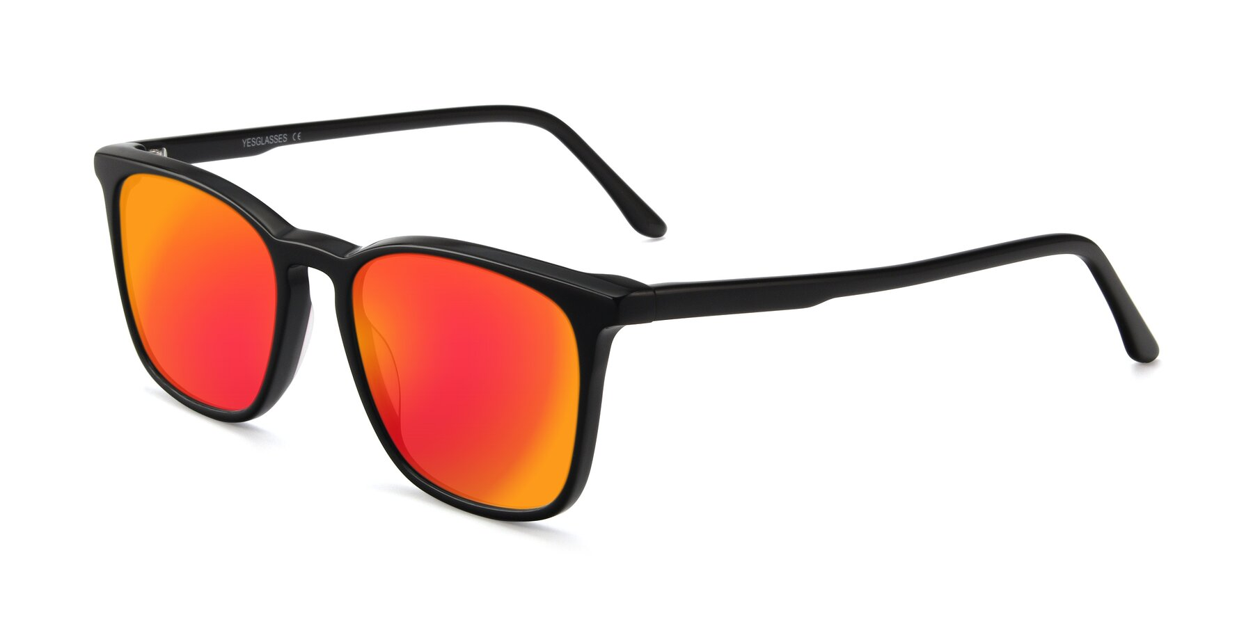 Angle of Vigor in Black with Red Gold Mirrored Lenses