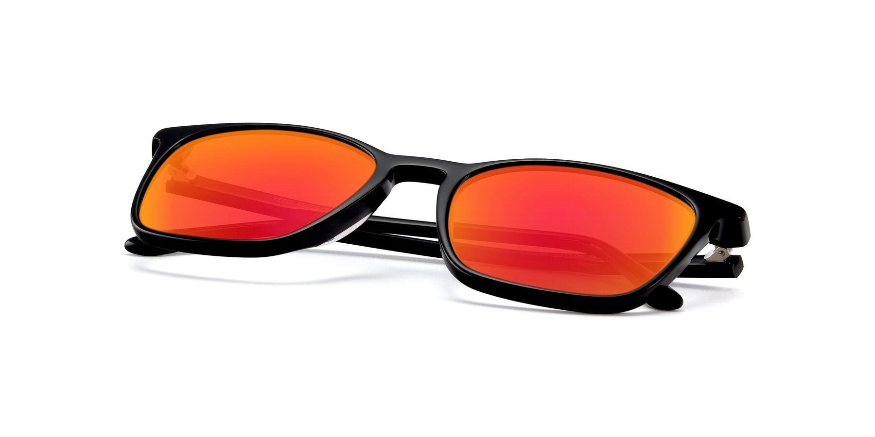 View of Vigor in Black with Red Gold Mirrored Lenses
