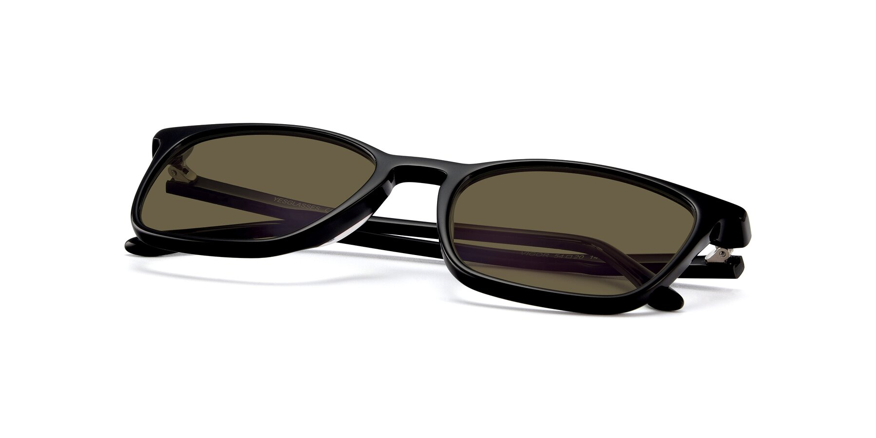 View of Vigor in Black with Brown Polarized Lenses