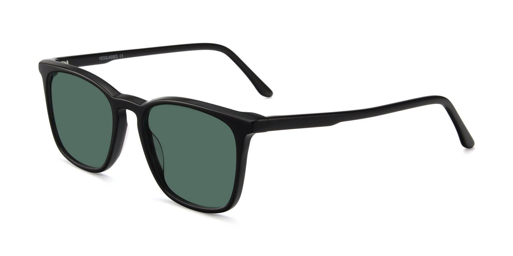 Angle of Vigor in Black with Green Polarized Lenses