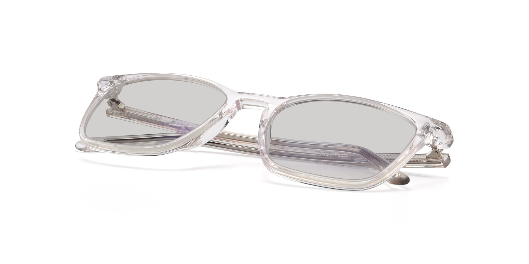 View of Vigor in Clear with Light Gray Tinted Lenses