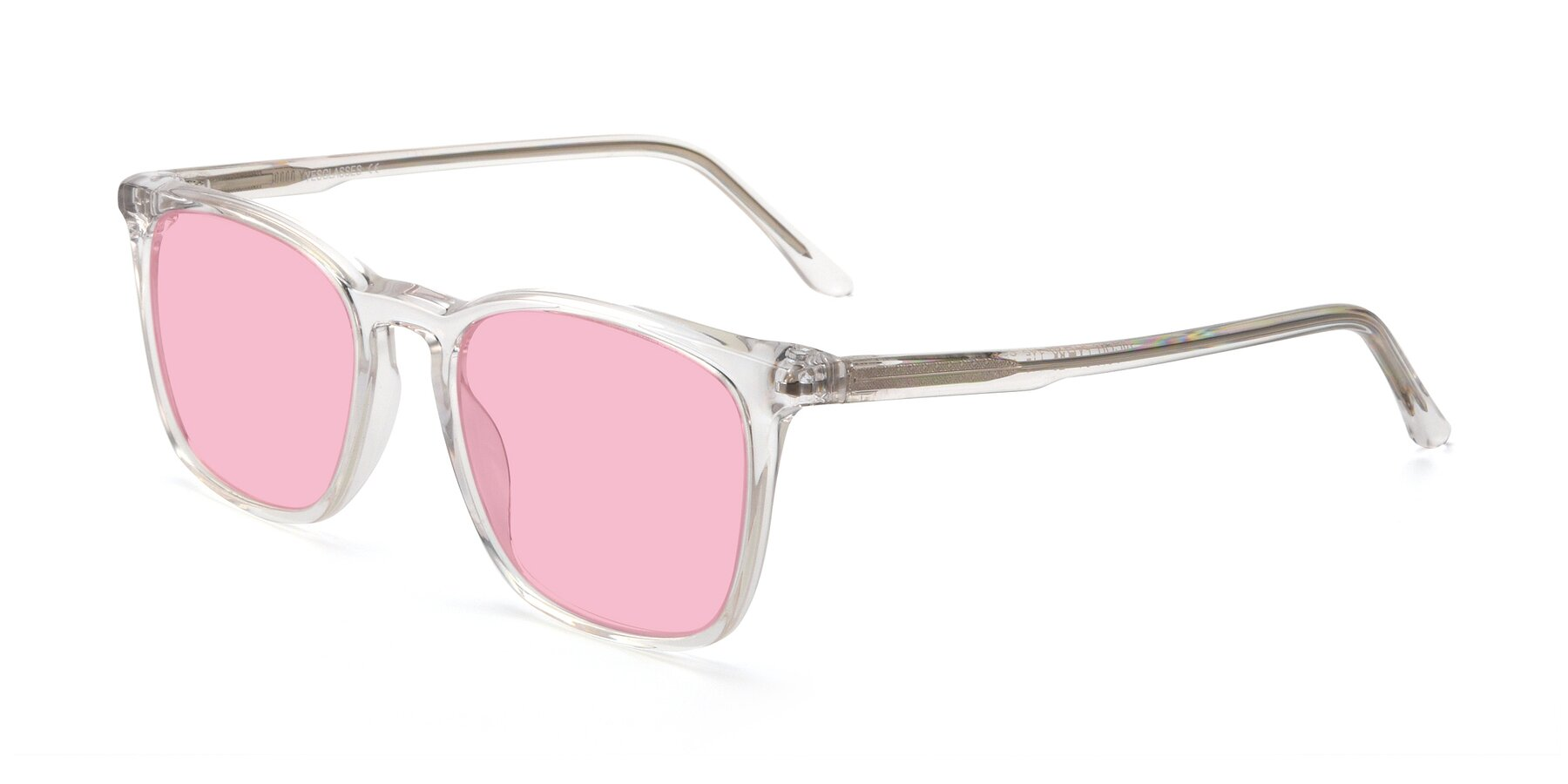 Angle of Vigor in Clear with Medium Pink Tinted Lenses