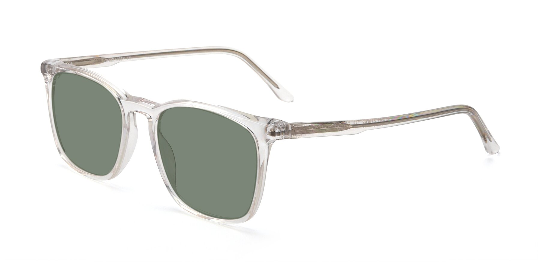 Angle of Vigor in Clear with Medium Green Tinted Lenses