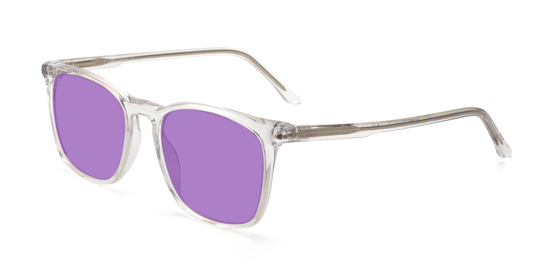 Angle of Vigor in Clear with Medium Purple Tinted Lenses