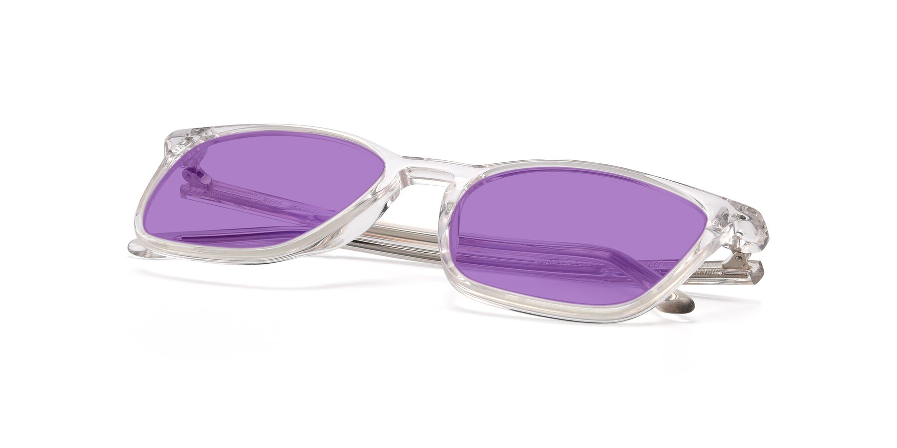 View of Vigor in Clear with Medium Purple Tinted Lenses