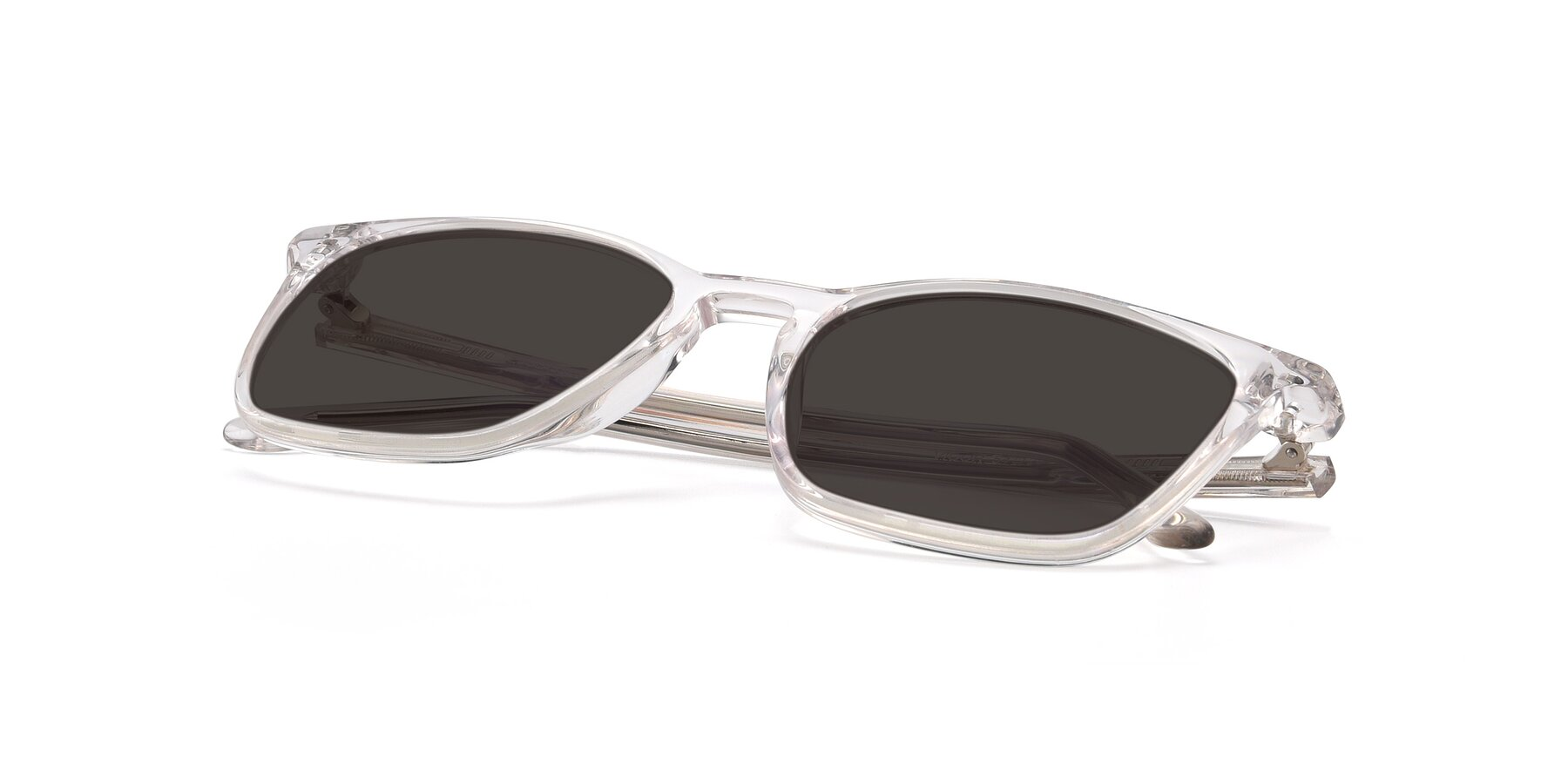 View of Vigor in Clear with Gray Tinted Lenses