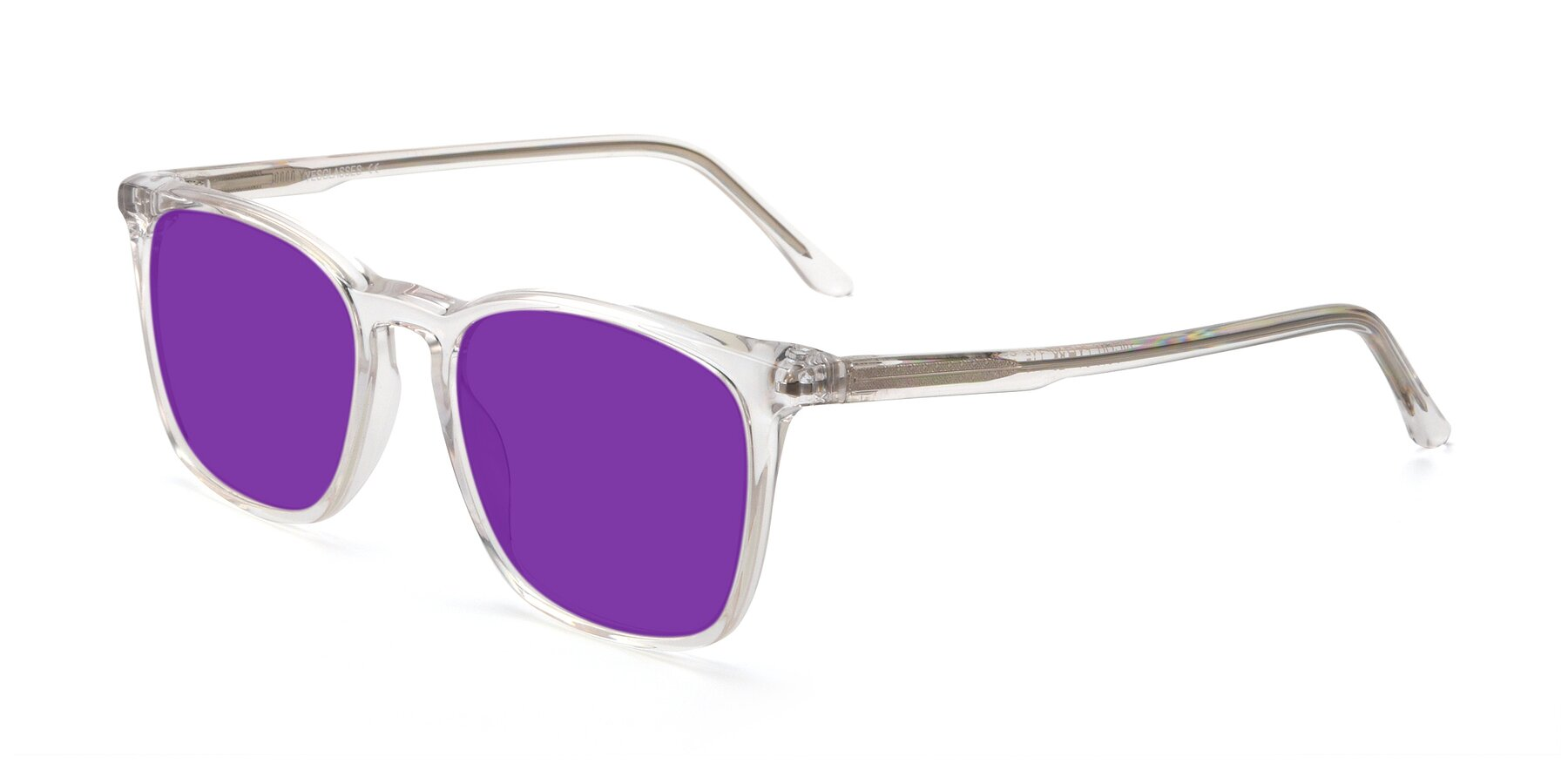 Angle of Vigor in Clear with Purple Tinted Lenses