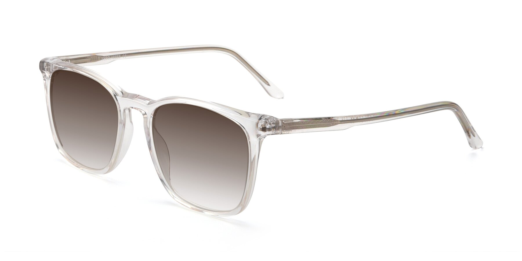 Angle of Vigor in Clear with Brown Gradient Lenses