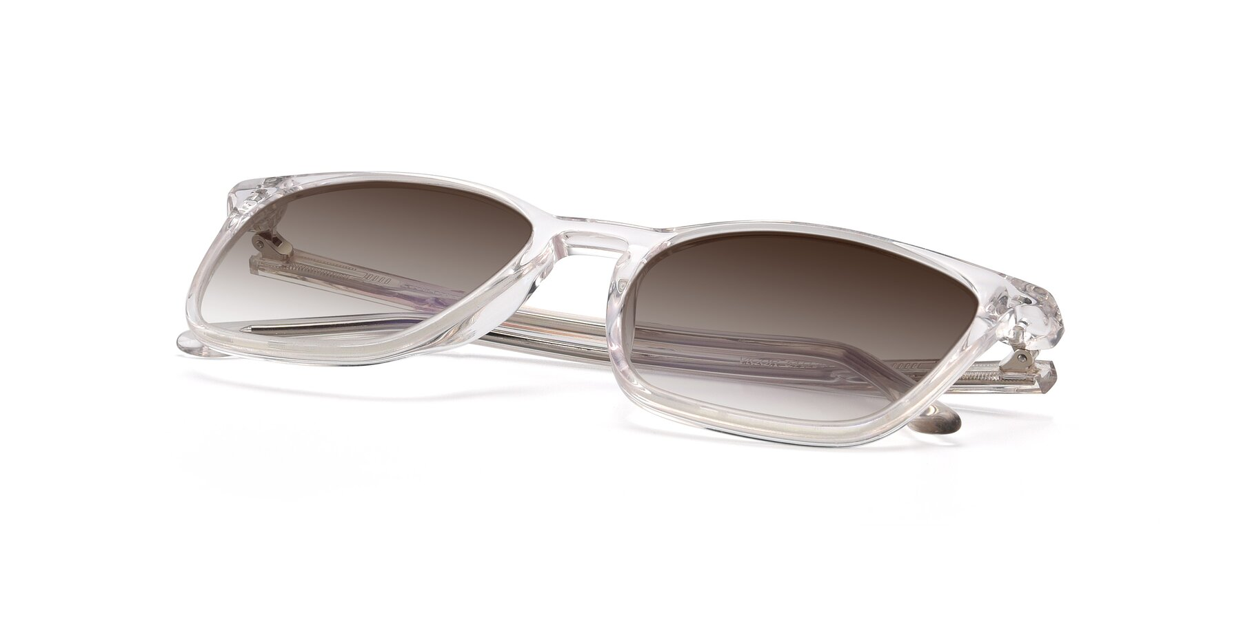 View of Vigor in Clear with Brown Gradient Lenses