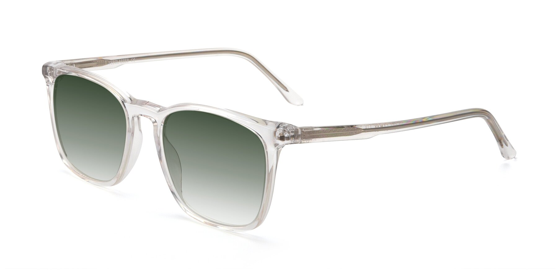 Angle of Vigor in Clear with Green Gradient Lenses