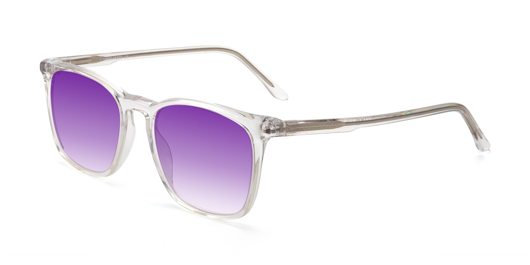Angle of Vigor in Clear with Purple Gradient Lenses