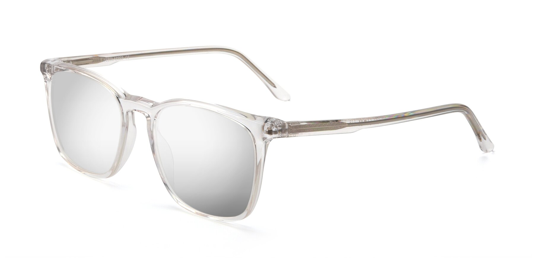 Angle of Vigor in Clear with Silver Mirrored Lenses