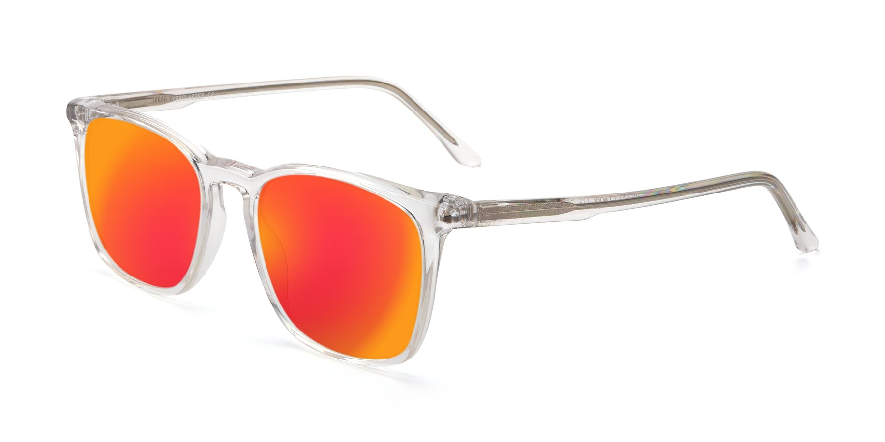 Angle of Vigor in Clear with Red Gold Mirrored Lenses