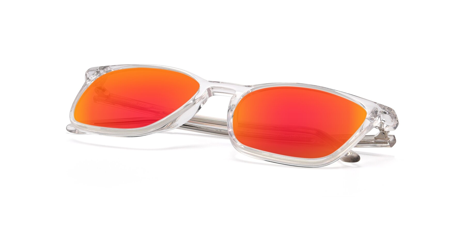 View of Vigor in Clear with Red Gold Mirrored Lenses