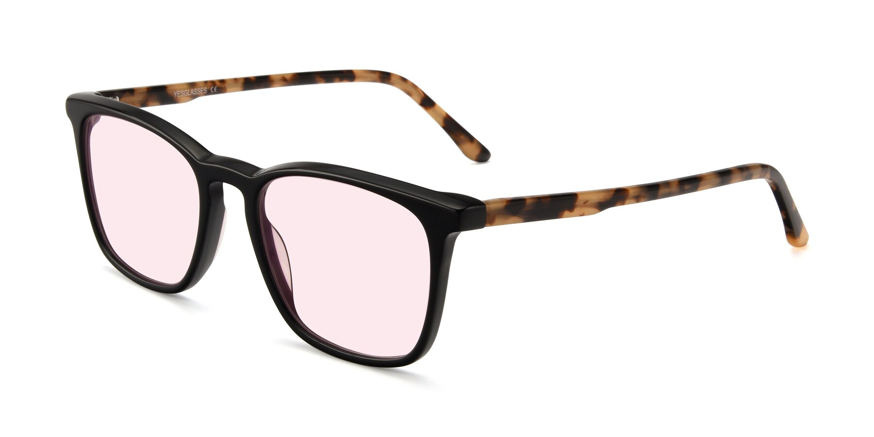 Angle of Vigor in Black-Tortoise with Light Pink Tinted Lenses